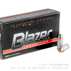 50 Rounds of .45 ACP Ammo by CCI - 230gr FMJ