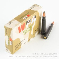 20 Rounds of 30-06 Springfield Ammo by Wolf - 140gr SP
