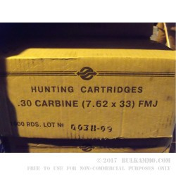 Tula 30 Carbine Ammo For Sale