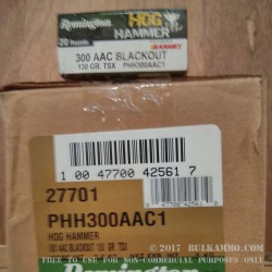 20 Rounds of .300 AAC Blackout Ammo by Remington - 130gr TSX