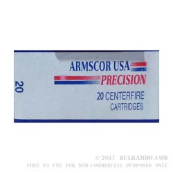 20 Rounds of .500 S&W Mag Ammo by Armscor - 300 gr XTP