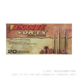 20 Rounds of 5.56x45 Ammo by Barnes VOR-TX - 62gr TSX