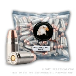 1000 Rounds of .357 SIG Ammo by MBI - 124gr FMJFN