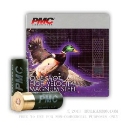 25 Rounds of 12ga Ammo by PMC -  #1 Shot (Steel)