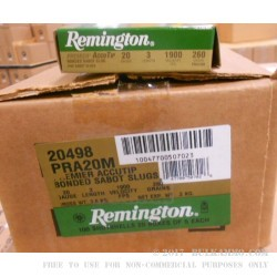 "5 Rounds of 20ga 3"" Ammo by Remington - 260gr AccuTip Sabot Slug"