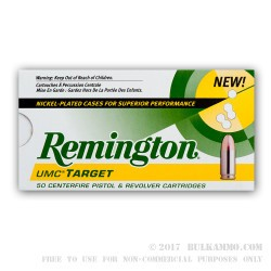 500  Rounds of .40 S&W Nickel Plated Ammo by Remington - 180gr MC