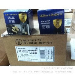 """25 Rounds of .410 Ammo by Sellier & Bellot - 2-1/2"""" Multi Shot 000 Buck & BB Shot"""