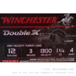 10 Rounds of 12ga Ammo by Winchester - 1 3/4 ounce #4 shot