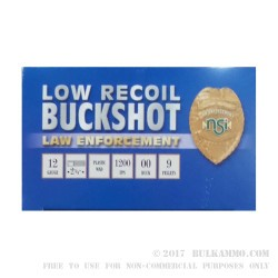 "250 Rounds of 12ga Ammo by NobelSport - 2-3/4"" 00 Buck"