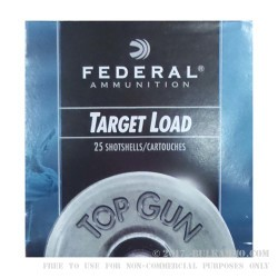 "250 Rounds of 12ga Ammo by Federal Top Gun - 2-3/4"" 1 ounce #7 1/2 shot"