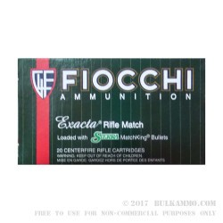 200 Rounds of .223 Ammo by Fiocchi Exacta - 77gr HPBT