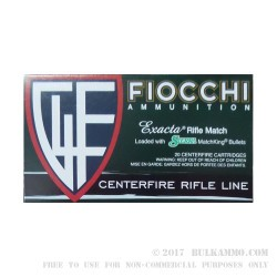 200 Rounds of .308 Win Ammo by Fiocchi Extrema - 168gr HPBT