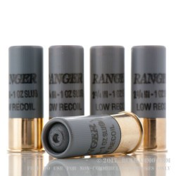 5 Rounds of 12ga Ammo by Winchester - 1 ounce Rifled Slug