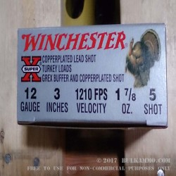 "10 Rounds of 12ga Ammo by Winchester Super X Turkey -  3"" 1-7/8 oz  #5 shot"