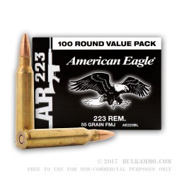 1000 Rounds of .223 Ammo by Federal - 55gr FMJ Packaged in Ammo Can