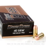 1000 Rounds of .40 S&W Ammo by Blazer Brass - 180gr FMJ