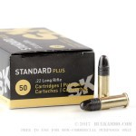 50 Rounds of .22 LR Ammo by SK Standard Plus - 40gr LRN