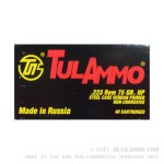1000 Rounds of .223 Ammo by Tula - 75gr HP