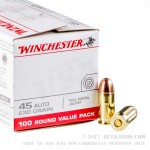 500 Rounds of .45 ACP Ammo by Winchester - 230gr FMJ