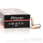 50 Rounds of .40 S&W Ammo by CCI - 180gr FMJ