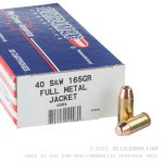 50 Rounds of .40 S&W Ammo by Ultramax Remanufactured - 165gr FMJ