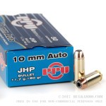 50 Rounds of 10mm Ammo by Prvi Partizan - 180gr JHP