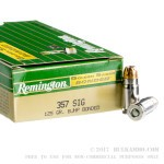 50 Rounds of .357 SIG Ammo by Remington - 125gr HP