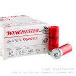 250 Rounds of 12ga Ammo by Winchester - 1 1/8 ounce #8 shot