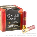 """25 Rounds of .410 Ammo by Federal Gold Medal- 2-1/2"""" 1/2 ounce #8-1/2 shot"""