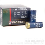 25 Rounds of 12ga Low Recoil Ammo by Fiocchi - 1 ounce #7 Shot (Steel)