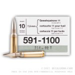 480 Rounds of 7.5x55mm Swiss Ammo by RUAG Munitions - 174gr FMJBT