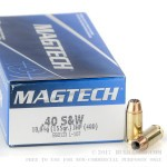 50 Rounds of .40 S&W Ammo by Magtech - 155gr JHP