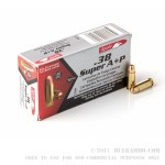 1000 Rounds of .38 Super Ammo by Aguila - 130gr FMJ