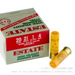 """25 Rounds of 20ga Ammo by Estate Cartridge HV - 2-3/4"""" 3/4 ounce #4 shot"""