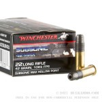 50 Rounds of .22 LR Ammo by Winchester - 42 gr LHP - Subsonic