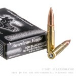 20 Rounds of .300 AAC Blackout Ammo by Federal American Eagle - 220gr OTM