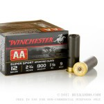 "25 Rounds of 12ga Ammo by Winchester AA - 2-3/4"" 1-1/8 ounce #9 shot"