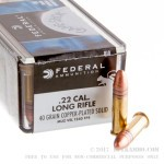 100 Rounds of .22 LR Ammo by Federal - 40gr LRN