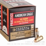 120 Rounds of .40 S&W Ammo by Federal - 180gr FMJ/ Hydra-Shok JHP