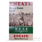 25 Rounds of 12ga Ammo by Estate Cartridge Heavy Game Load - 1 1/8 ounce #6 shot