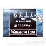 25 Rounds of 20ga Ammo by Federal Speed-Shok - Waterfowl - 3/4 ounce #7 Shot (Steel)