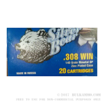 500  Rounds of .308 Win Ammo by Silver Bear - 140gr SP