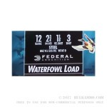 """25 Rounds of 2-3/4"""" 12ga Ammo by Federal Speed-Shok - 1 1/8 ounce #3 Shot"""