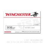 20 Rounds of .308 Win Ammo by Winchester - 147gr FMJ