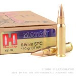 200 Rounds of 6.8 SPC Ammo by Hornady - 110gr HPBT