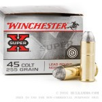 20 Rounds of .45 Long-Colt Ammo by Winchester - 255gr LRN