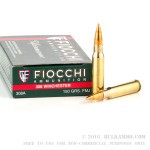 20 Rounds of .308 Win Ammo by Fiocchi - 150gr FMJBT