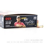 300 Rounds of .22 LR Ammo by CCI - 36gr CPHP