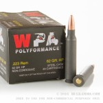 500  Rounds of .223 Ammo by Wolf - 62gr Hollow Point