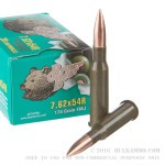500  Rounds of 7.62x54r Ammo by Brown Bear - 174gr FMJ